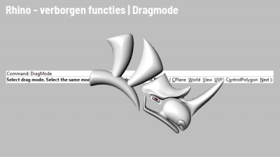 Rhino tips: Dragmode