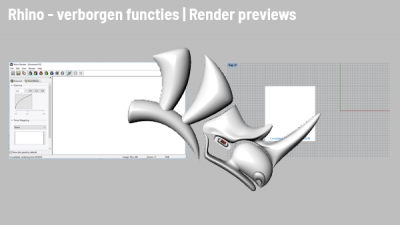 Rhino tips: Render previews